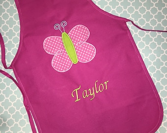 Easter Gift for your little Baker- Personalized Butterfly Apron- Gardening Apron