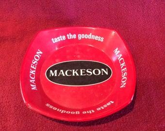Ornamin Mackeson Taste the Goodness Red Melamine Ashtray