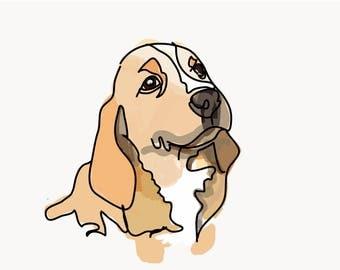 Digital print of your pet