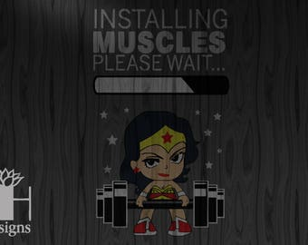 Installing Wonder Woman Muscles SVG