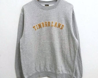 RARE!!! Timberland Outdoor Hiking Big Logo Crew Neck Grey Colour Sweatshirts Hip Hop Swag L Size