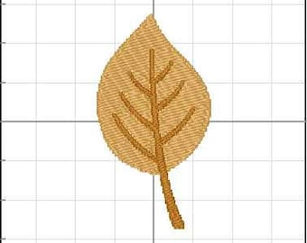 Fill Embroidery Design, Autumn Leaf 7, Thanksgiving, File, Digital, Download, Machine