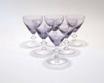 Amethyst Crystal Cordial Glasses