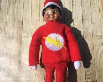 Flash Guy Elf Shirt Embroidery Design