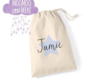 Personalised gift bag | Drawstring bag | Pouches | Keepsake bag | Children's bag | Wedding gift bags | Birthday sack | Tote bag.