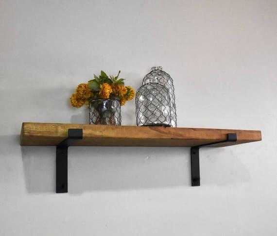 industrial floating shelves 12 deep rustic wall shelf. Black Bedroom Furniture Sets. Home Design Ideas