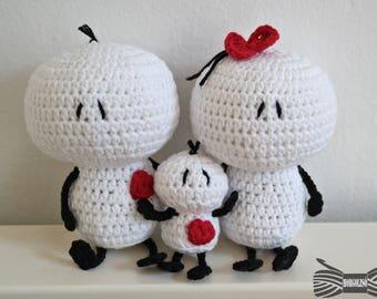 Crochet Bigli migli doll family