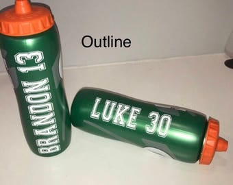 Custom Personalized Gatorade Bottle with NAME AND NUMBER   32oz!!!!!!