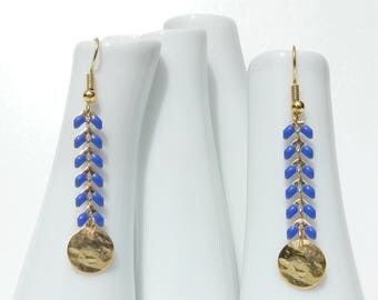 Spike earrings / Royal Blue