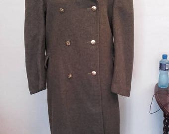 Military Greatcoat/ Trench Coat, Army, Wool Coat