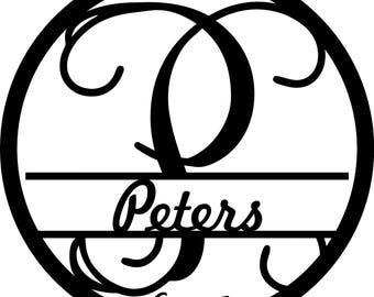 Peters Wall Monogram