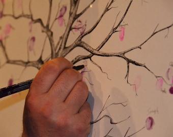 Car / fingerprint wedding tree