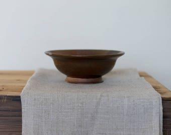 Ceramic Bowl // Handmade Pottery Bowl // Pinstripe Bowl // Dessert Dish // Striped Bowl // Rustic Bowl