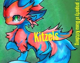 Kitzel custom character art