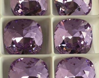 Lot de 4 cabochons cristaux Swarovski 4470 12mm à sertir Light Amethyst