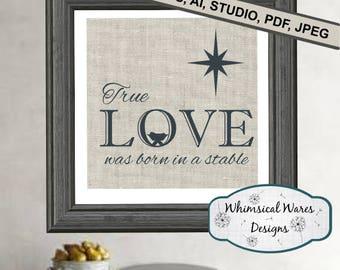 Christmas svg, Nativity svg, manger svg,  Christmas love svg, farmhouse svg, digital download studio3 file svg eps ai pdf files all included