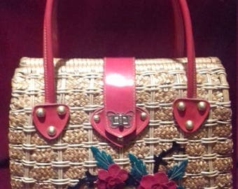 1950s Basket Bag / Fantastic Vintage  Bag