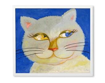 Kitty Eyes Poster Nursery Art Illustration