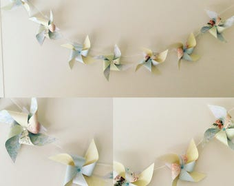 Garland windmills pastel collection
