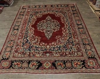Rare 60 Years Old Antique Mahal Persian Oriental Area Rug Carpet 11X14