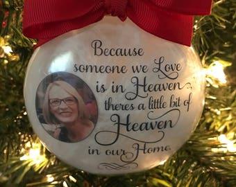 Personalized heaven keepsake memory ornament