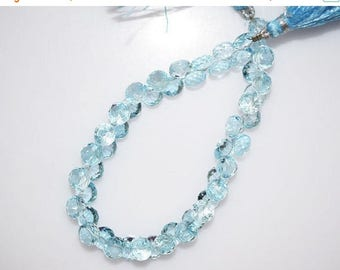 """50% OFF Sky Blue Topaz Faceted Onion Shape Beads-Sky Blue Topaz Onion Shape Briolette, 5x6 - 6x7 mm, 7"""" , BL763"""