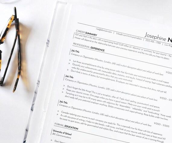 ats resume template resume template resume cv resume for word minimalist resume professional resume application tracking resume docx