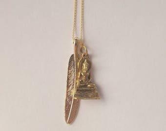 The Buddha gold leaf