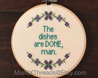 Dont Tell Mom The Babysitters Dead - FINISHED Cross Stitch