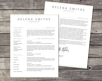 resume word cv template resume template word modern resume professional resume - Resume Cover Leter
