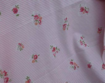French vintage floral fabric length