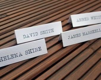 Type Writer Vintage Name Place Card Settings Wedding Personalised