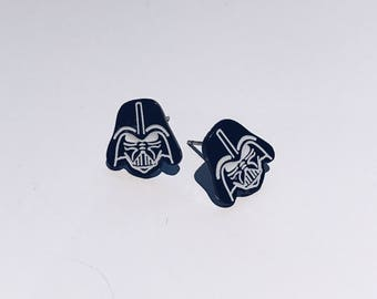 Darth Vader Enamel Studs / Star Wars Studs / Animated Studs / Darth Vader Earrings