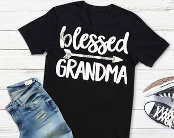Grandma svg, Blessed svg, Grandma shirt, mothers day SVG, DXF, EPS, arrow svg, family svg, grandmother svg,  Instructions included