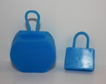 Vintage Dark Blue Luggage Accessory Pair for Barbie Skipper Tammy Dolls Hong Kong