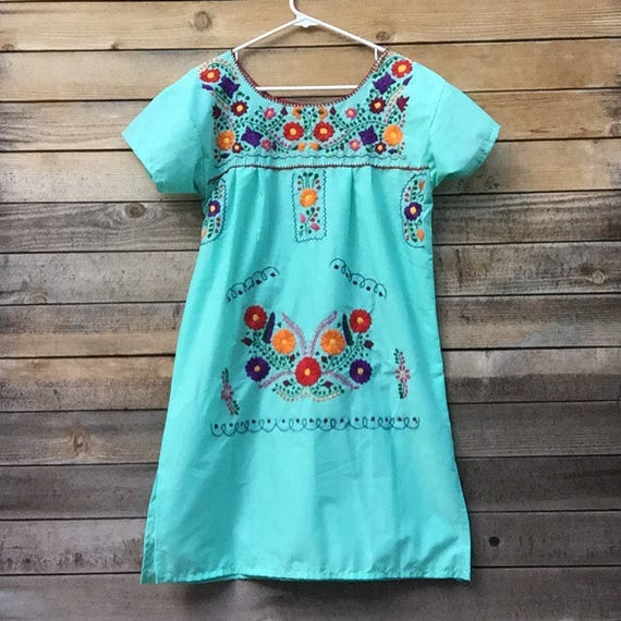 mexican embroidered dress - Small