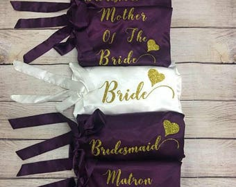 PERSONALIZED   Robe Bridal Shower, Bride To Be, Bachelorette, Bridesmaid, Bridesmaid gifts, bridesmaid robes, bridal robe, wedding robe