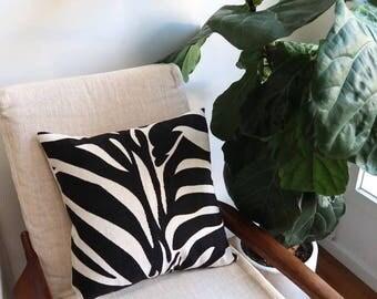 Zebra print cushion cover, Throw cushion cover, Scatter cushion cover, Throw pillow cover, Decorative pillow cover