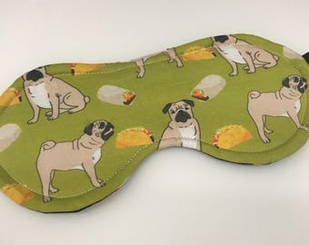 Pug & Burrito Eye Mask