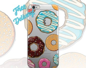 FREE SHIPPING Donuts Phone Case iPhone 7/7+/6/6S/6+/6S+65/SE, Galaxy S8/8+/7/7Edge/6/6Edge/5/Note5/J7Prime, Huawei P8/8PLite2016/P9/P9Lite