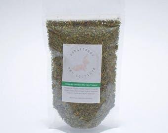 Organic Garden Mix Hay Topper -  Dry Herbs and Flower Treats for Rabbits, Rabbit food, Bunny treats Australia, guinea pig treats,