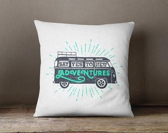 HOT SALE Road trip pillow adventure lover fun throw pillow case glider cushion outdoor decorative pillow modern throw pillow cover patio pil