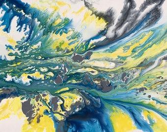 """Jiang Lin 081 30×60"""" Abstract"""