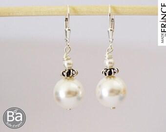 RELIGIOUS earrings white