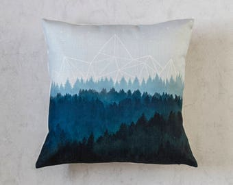 Tree Mountains Pillow Cover, Cushion Cover, Pillow Covers, Pillow Cushion, Throw Pillow, Cushion CoverChristmas Gift Idea