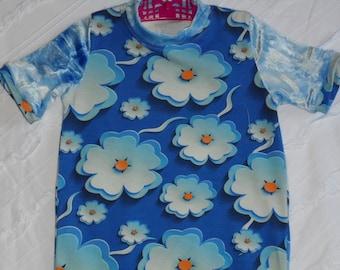 Beautiful blue floral summer dress