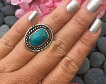 Blue Turquoise And Sterling Silver Ring | Western Jewelry | Southwestern Rings | Southwestern Jewelry | Western Ring | Bohemian Jewelry