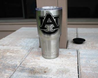 University of Auburn Tumbler/Auburn Tigers Tumbler/ 30oz RTIC Cup
