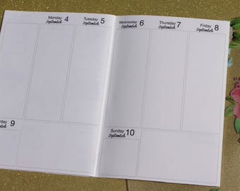 Weekly Planner WO2P Insert