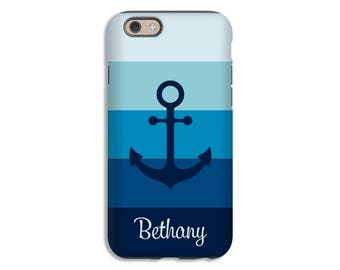 Personalized iPhone 7 case, anchor iPhone 7 Plus case, iPhone 6s case, iPhone 6s Plus case, iPhone 6 case, Galaxy S8 case, custom phone case